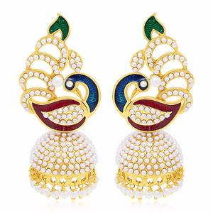 Sukkhi Delightful Peacock Gold Plated Earring