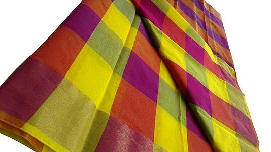 Fabric :Kotta Cotton Yarn : 2/80 Checked +  Running BlouseWeight : 0.550KgW/H : 6.25 & 46.5'Inch Price :₹ 799+$986017320