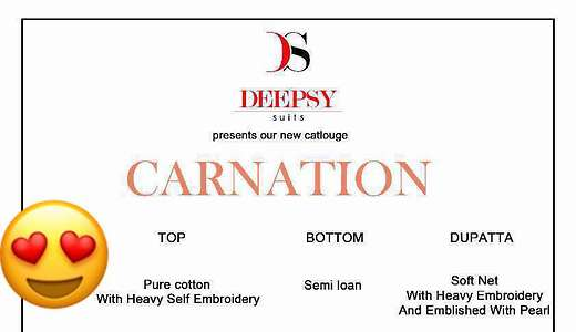 😍😍😍😍😍😍😍😍😍😍😍*Hit design of carnation* Will available in singles   Confirm  your  order fast  💃💃💃💃💃💃💃💃💃💃