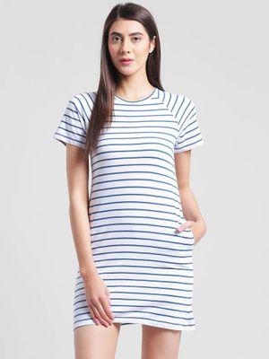 Multicoloured Cotton Mini Length Dress For Women's And Girl's