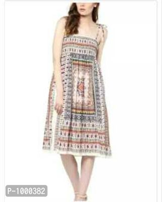 Traditional printed maxi dress