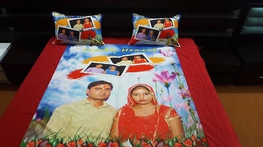 Customised cotton bedsheet
