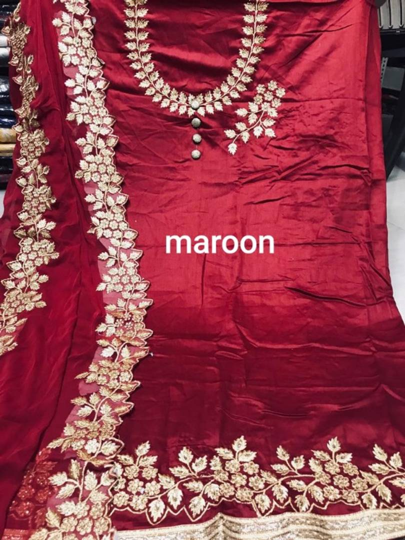 Cotton Silk Embroidered Dress Material