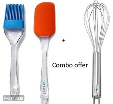 U.S.Traders Combo Pack of 2 one wisk and one Set of spechula and Oil Silicone Brush
