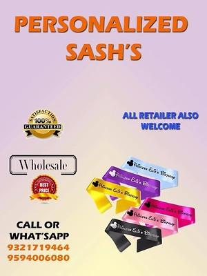 Personalised Sash