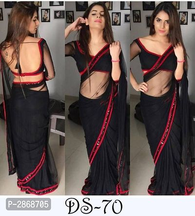 Bollywood Laycra Sarees with Blouse