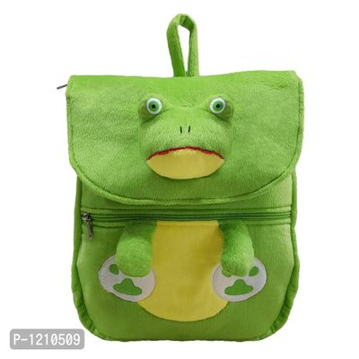 Frog Face School Bag 14 Inches- Green