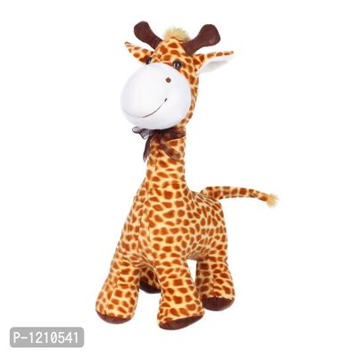 Standing Giraffe Soft Toy 16 Inches - Brown