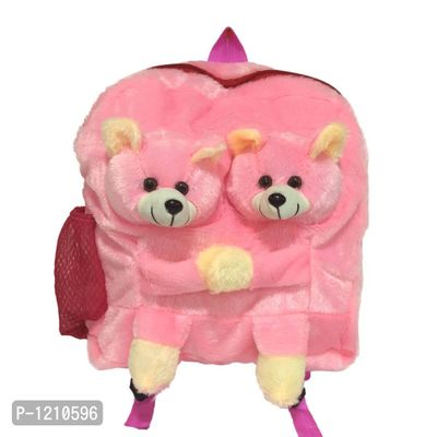 Twins Teddy School Bag 14 Inches - Pink