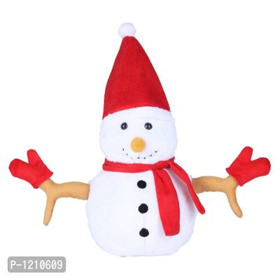 Christmas Snowman 13 Inches Soft Toy White