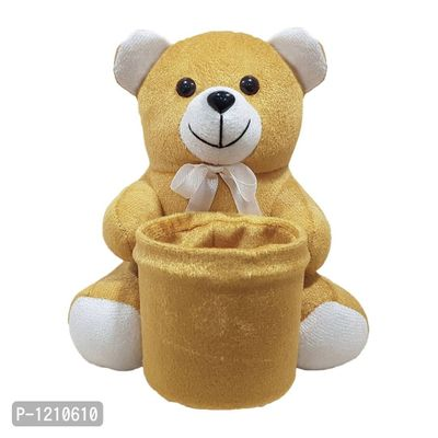 Teddy Penstand 8 Inches Soft Toy Brown