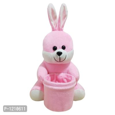 Bunny  Penstand 8 Inches Soft Toy Pink