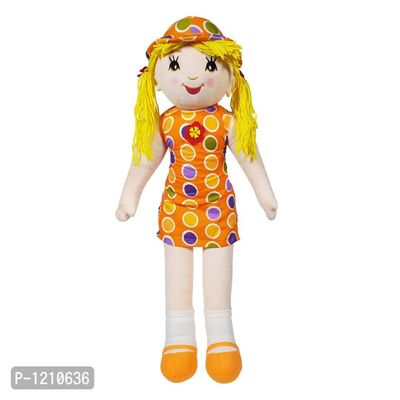 Candy Doll Soft Toy With Polka Dots 27 Inches - Orange