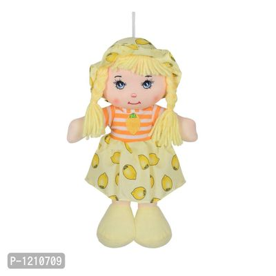 Cute Hanging Baby Doll Soft Toy Yellow 10 inches