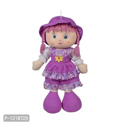 Cute Hugging Baby Doll Soft Toy with Frock Purple 20 inches
