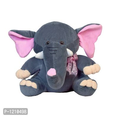 Baby Elephant Soft Toy 11 Inches - Dark Grey