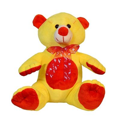 Playing Teddy Bear Soft Toy 10 Inches Yellow