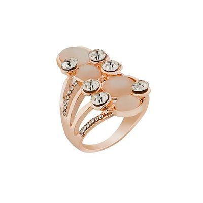 Stone Rose Gold Plated Ring