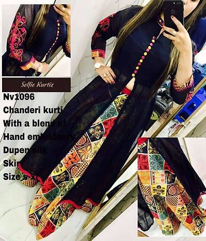 HAND EMBROIDERY PARTY WEAR KURTI