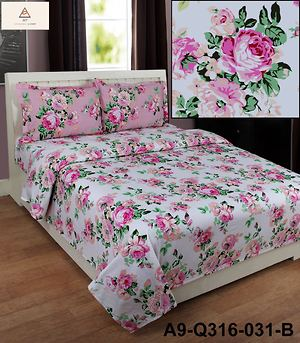 Pure cotton double Bedsheets with pillow cases  by Juhi Rana's Shop