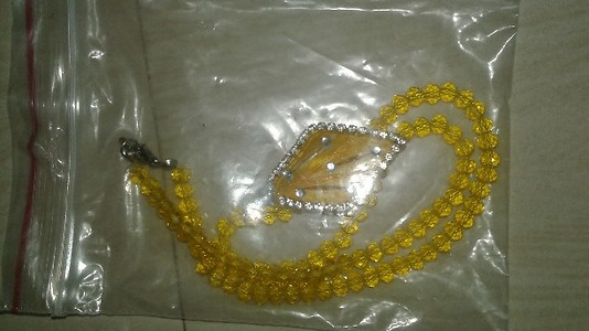 chain with shell pendant