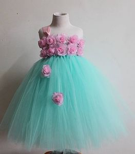 Flower Birthday Party Tutu Dress for Kids Girls