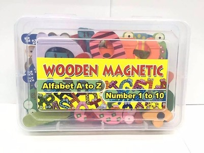 Wooden Magnetic Alphabets & Numbers