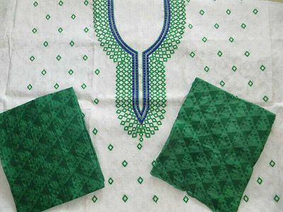 Embroidery salwars from Gujarat