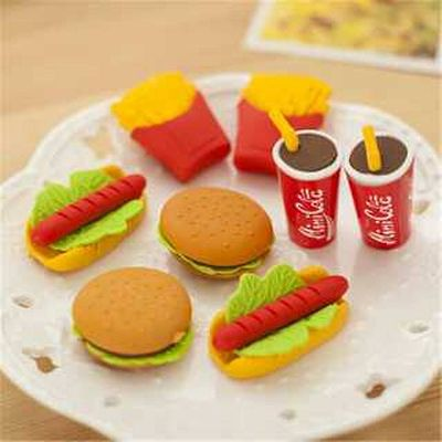 FOOD SHAPED PENCIL ERASER - 1 PC