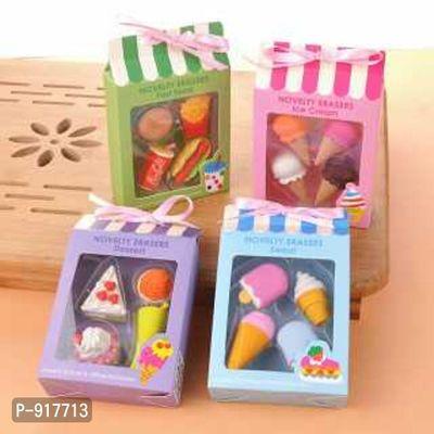 FOOD ERASER SET -- 1 PACK