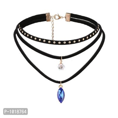Black Multilayered Choker Necklace