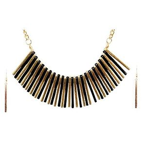 Urthn Gold Plated Bobby Pin Costume Necklace Set-AAB1014