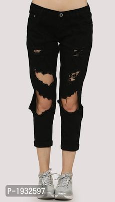 Torn Ankle Length Skinny Fit Jeans