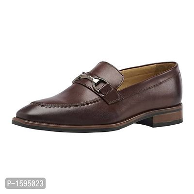 Maroon Leather Slip-On Shoes Formal Shoes