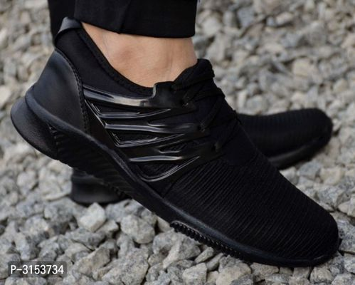 Trendy High Fashion Black Sports Shoes