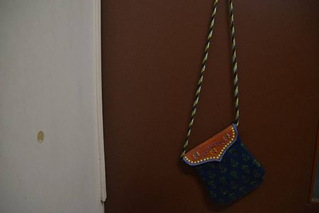 Blue Traditional Purse