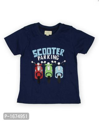 Scooter Printed Boys T Shirt -Blue