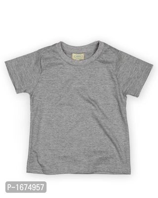 Solid Grey Older Boys T Shirt