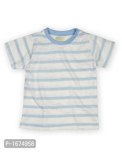 Striped Blue Older Boys T Shirt