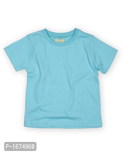 Solid Sea Blue Older Boys T Shirt