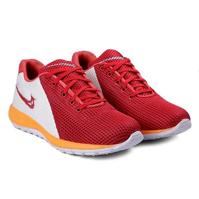 Red Textured Running Shoes