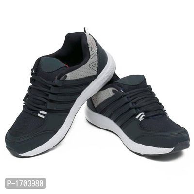 Grey Textured Running Shoes