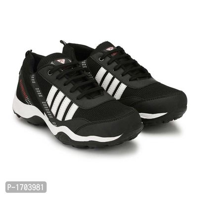 Black Textured Running Shoes