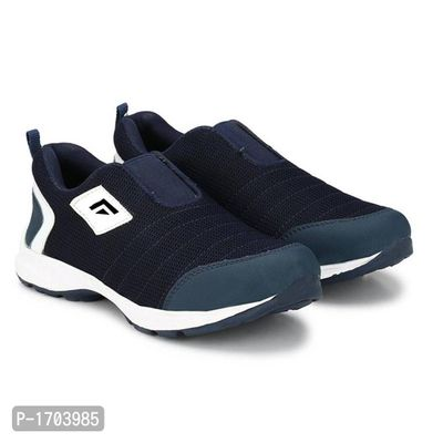 Navy Blue Textured Running Shoes