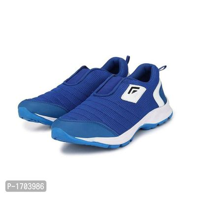 Blue Textured Running Shoes