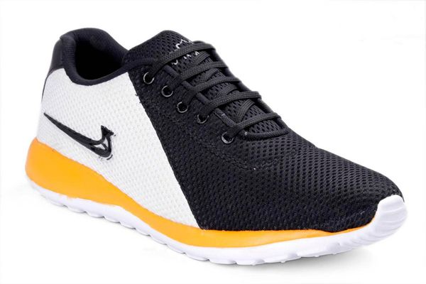 Yellow Textured Running Shoes