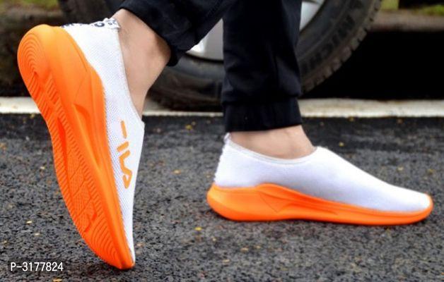 High Fashion White SlipOn Sports Sneaker
