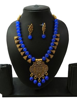 Traditional Handmade Indo Western Necklace with Earrings