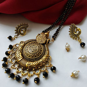Pendant Mangalsutra With Matching Earrings MMS-117