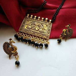Pendant Mangalsutra With Matching Earrings MMS-118